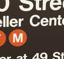 iconic NYC typography Sticker