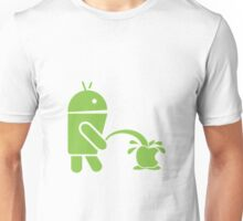 Android pissing on Apple Unisex T-Shirt
