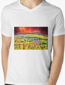 Church on the approach to Mount Doom Mens V-Neck T-Shirt