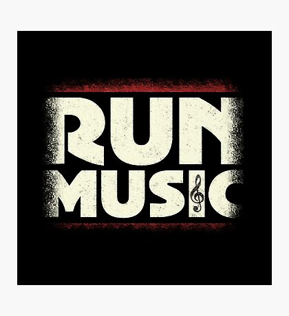 Run Music Photographic Print