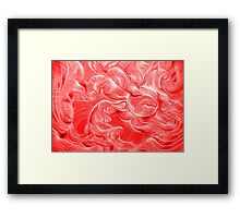 Curvscape Red Framed Print