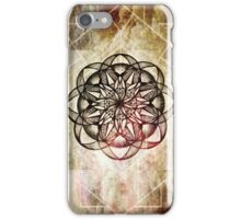 Mandala Geometric Alchemy Symbols Clouds Pink Taupe iPhone Case/Skin