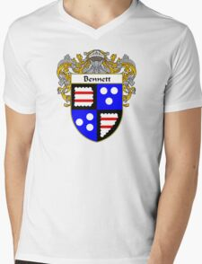 Bennett Coat of Arms/ Bennett Family Crest Mens V-Neck T-Shirt
