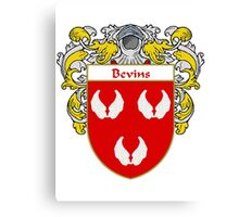 Bevins Coat of Arms/ Bevins Family Crest Canvas Print