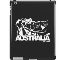 koala national australia animal happy hour vector art  iPad Case/Skin