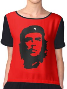 Che, Guevara, Rebel, Revolution, Marxist, Revolutionary, Cuba, Power to the people! Black on Red Chiffon Top