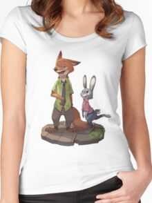 Zootopia - Nick and Judy Women's Fitted Scoop T-Shirt