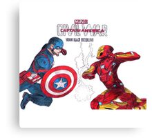 Civil war - Pencil Art (Original Drawing Art) Canvas Print