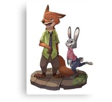 Zootopia - Nick and Judy Canvas Print