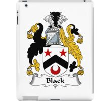 Black Coat of Arms/ Black Family Crest iPad Case/Skin