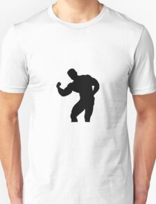 Bodybuilder muscles silhouette Unisex T-Shirt