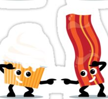 Character Fusion - Bacon Cupcakes Sticker