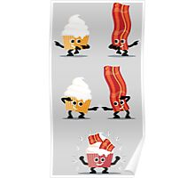 Character Fusion - Bacon Cupcakes Poster