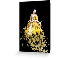 Fraser Feathers - Yellow Greeting Card