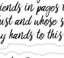 I Was Raised Among Books - Carlos Ruiz Zafon Sticker