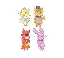 fnaf animal crossing villagers! Photographic Print