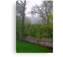 The Fence Keeps Out the Fog Canvas Print