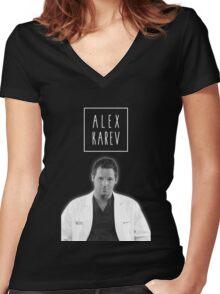 Alex Karev Women's Fitted V-Neck T-Shirt