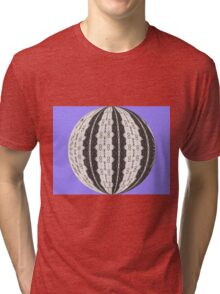 LACE PATTERN IN CIRCLE Tri-blend T-Shirt