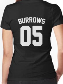 Jersey: Lincoln Burrows Women's Fitted V-Neck T-Shirt