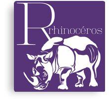 ABC-Book French Rhinoceros Canvas Print