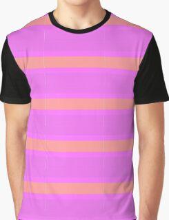 Pink stripey Graphic T-Shirt