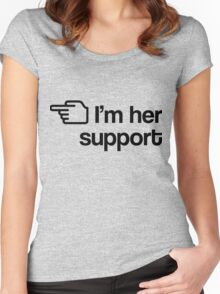 I'm Her Support Women's Fitted Scoop T-Shirt