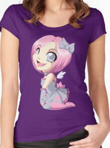 Portal: Companion Cube Women's Fitted Scoop T-Shirt