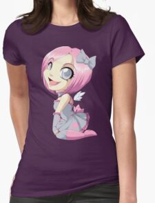 Portal: Companion Cube Womens Fitted T-Shirt