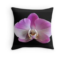 Purple White Orchid Throw Pillow