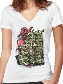 Rock Accident Women's Fitted V-Neck T-Shirt