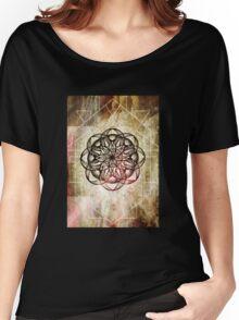 Mandala Pink Taupe Geometric Women's Relaxed Fit T-Shirt