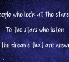 To The People Who Look At The Stars And Wish - Sarah J. Maas Sticker