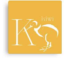 ABC-Book French  Kiwi Canvas Print