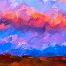 Boundless Dreams - Colorful Abstract Landscape by Mark Tisdale