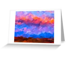 Boundless Dreams - Colorful Abstract Landscape Greeting Card