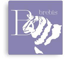 ABC-Book French Sheep Canvas Print