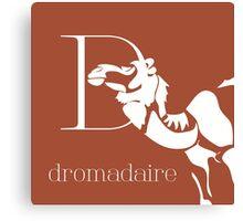 ABC-Book French Dromedary Canvas Print