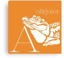 ABC-Book French Alligator Canvas Print