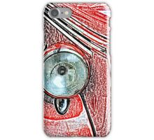 Headlight of an old car iPhone Case/Skin