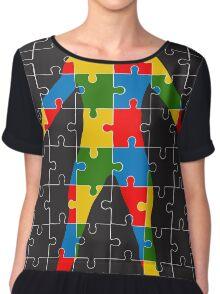 puzzle human body Chiffon Top