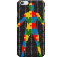 puzzle human body iPhone Case/Skin