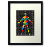 puzzle human body Framed Print