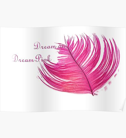 Pink Feather Dreams Poster
