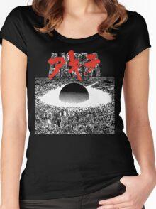 AKIRA - PIXEL / 8-BIT LOGO TSHIRT (HIGH QUALITY) Women's Fitted Scoop T-Shirt
