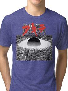 AKIRA - PIXEL / 8-BIT LOGO TSHIRT (HIGH QUALITY) Tri-blend T-Shirt