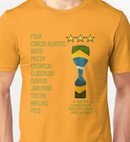Brazil 1970 World Cup Final Winners Unisex T-Shirt