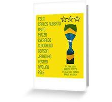Brazil 1970 World Cup Final Winners Greeting Card