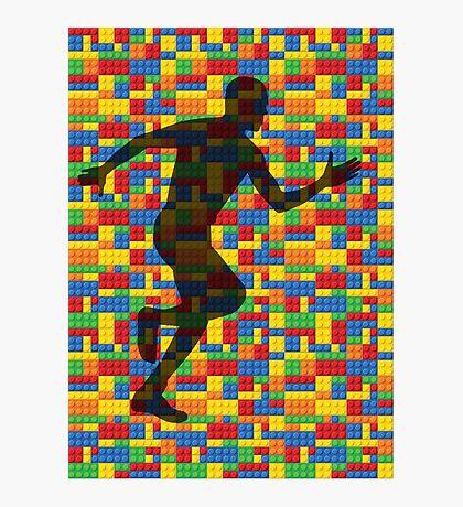Lego - human body - running man  Photographic Print