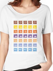 ABC-Book French Stamps #1 Women's Relaxed Fit T-Shirt